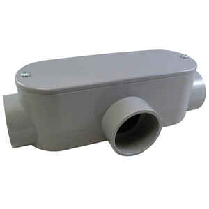 Cantex  1-1/4 in. Dia. PVC  Conduit Body