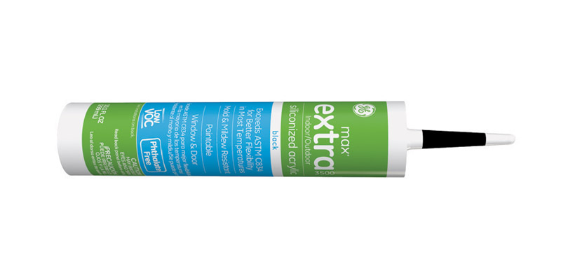 GE  Max Extra  Black  Siliconized Acrylic  10.1 oz. Caulk