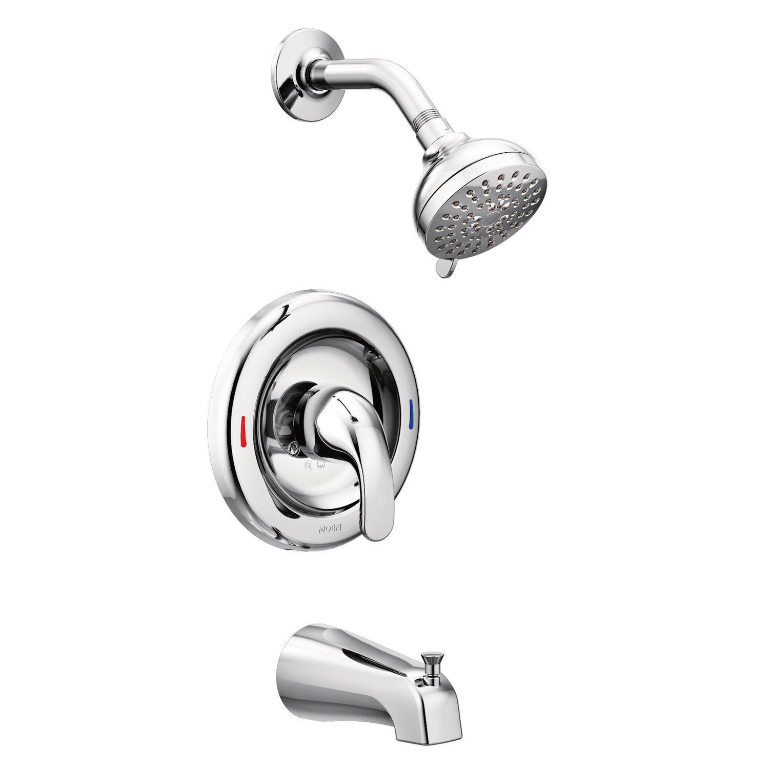 Moen Adler 1 Handle Chrome Tub And Shower Faucet Ace Hardware