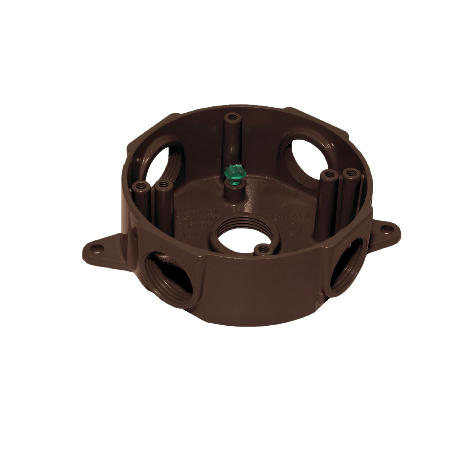 Sigma  2-5/16 in. Round  Aluminum  Outlet Box  Bronze  5 Gang