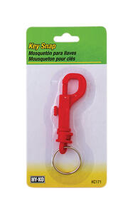 Hy-Ko  2GO  7/8 in. Dia. Plastic  Assorted  Split  Key Ring