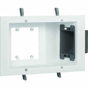 Carlon  1 ft. Plastic  3 gang White  Electrical Box  Rectangle  6.75 in.