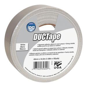 IPG  JobSite  1.88 in. W x 60 yd. L White  Duct Tape