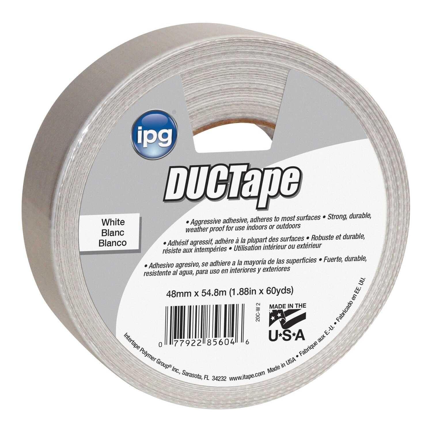 Ipg Jobsite 1 88 In W X 60 Yd L White Duct Tape Ace