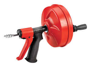 Ridgid  Power Spin+  1/2 in. Pistol Grip Drum Auger  25 ft.