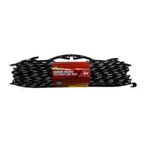 Ace  1/4 in. Dia. x 100 ft. L Multicolored  Diamond Braided  Polypropylene  Rope
