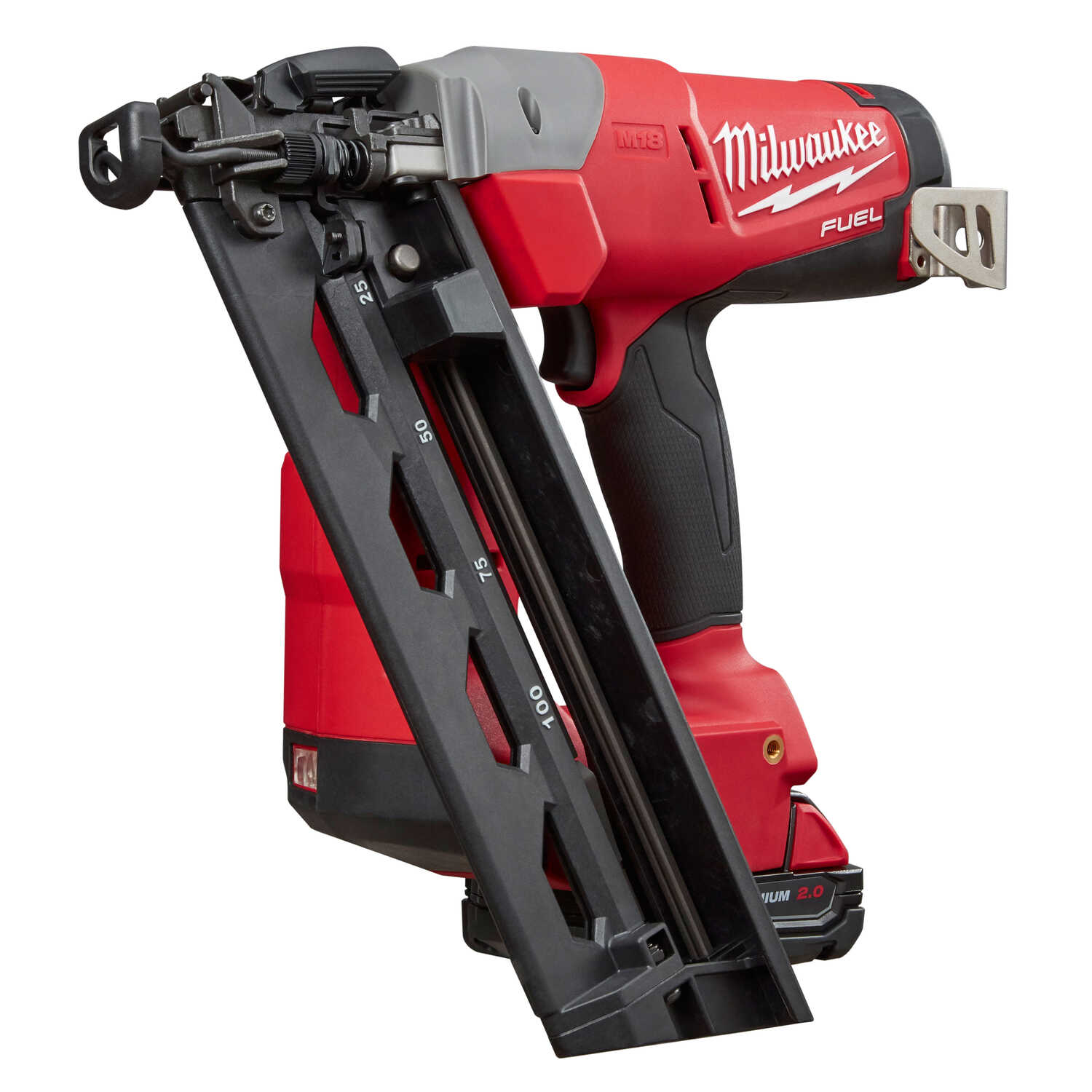Milwaukee  M18 FUEL  16 Ga. Cordless  Angled Finish Nailer  Kit 18 volt