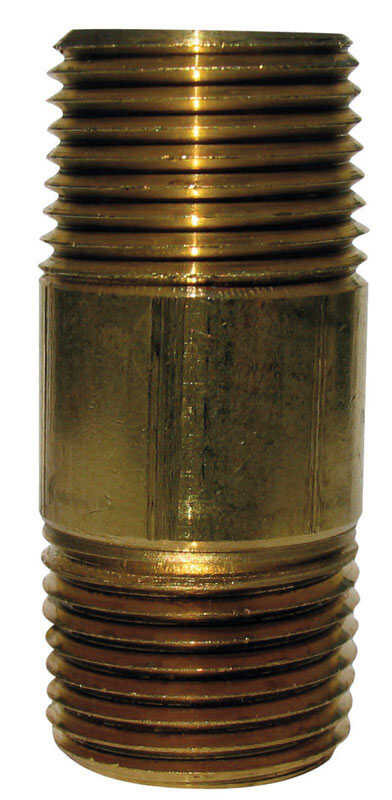 JMF 2 in.  1-1/2  MPT To MPT  1-1/2 in. Dia. Brass  Pipe Nipple