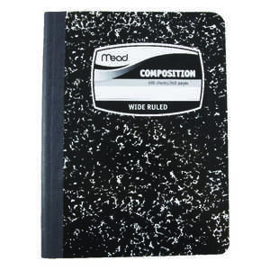Mead  7-1/2 in. W x 9-3/4 in. L Wide Ruled  Stitched  Composition Book