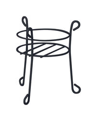 Panacea  15 in. H Black  Steel  Plant Stand