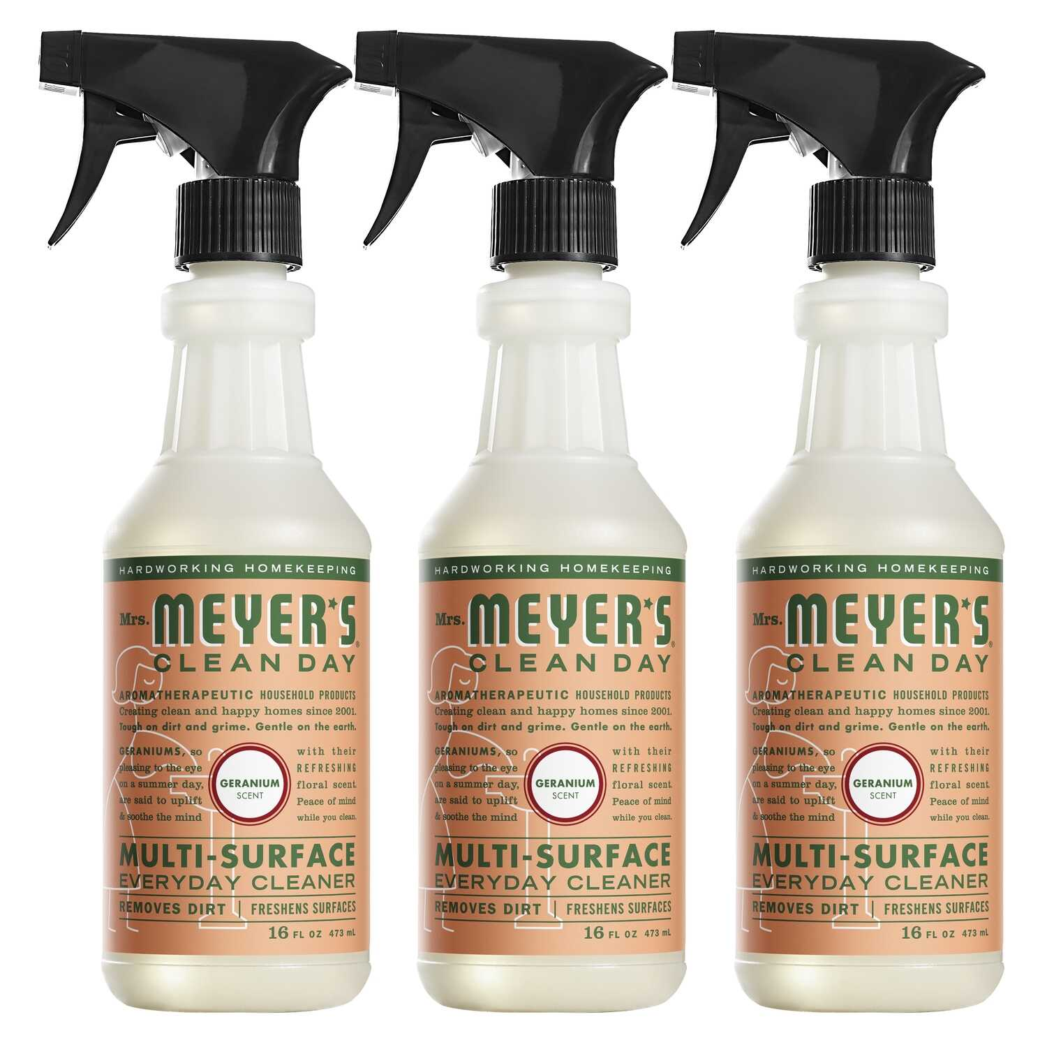 Mrs. Meyer's  Clean Day  Geranium Scent Multi-Surface Cleaner, Protector and Deodorizer  16 oz. Liqu