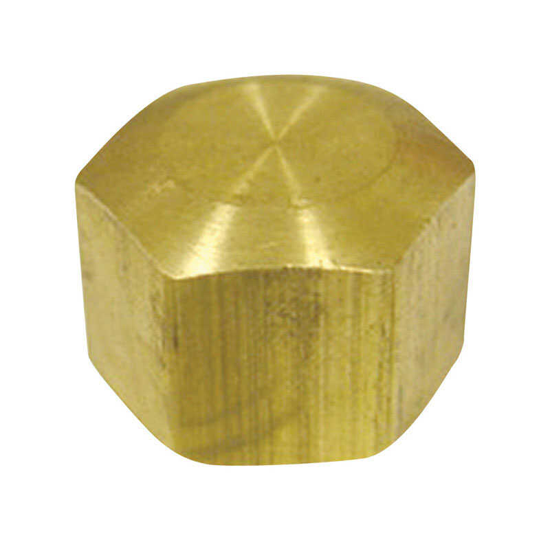 Ace  5/8 in. Dia. x 5/8 in. Dia. Compression To Compression To Compression  Yellow Brass  Cap