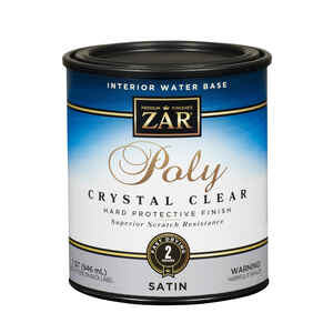 Aqua ZAR  Satin  Clear  Water-Based  Polyurethane  1 qt.