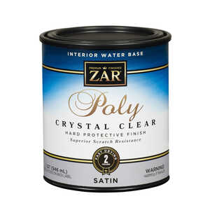 Aqua ZAR  Satin  Water-Based  Clear  1 qt. Polyurethane
