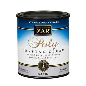 ZAR  Satin  Clear  1 qt. Water Based Polyurethane