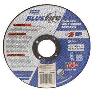 Norton  BlueFire  4-1/2 in. Dia. x 7/8 in.  Aluminum Oxide  Cut-Off Wheel  1 pc.