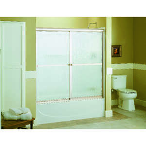 Sterling  Advantage  59.6 in. W x 55.5 in. H Frameless  Nickel  Shower Door