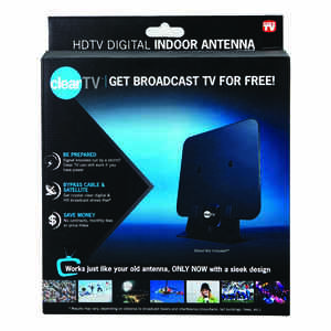 Clear TV  Indoor  HDTV/UHF Antenna  1 pk