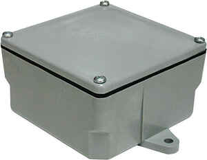 Cantex  6 in. Square  PVC  1 gang Junction Box  1 Gang  Gray