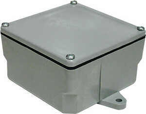 Cantex  6 in. PVC  1 gang Square  1 Gang  Gray  Junction Box