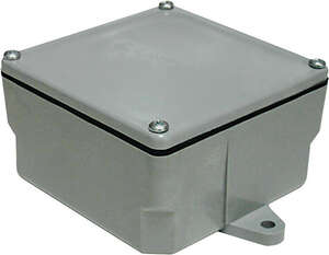 Cantex  6 in. Square  Junction Box  Gray  PVC  1 Gang