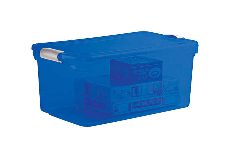 Homz  Latching  16 in. H x 28.75 in. W x 10.625 in. D Stackable Storage Box