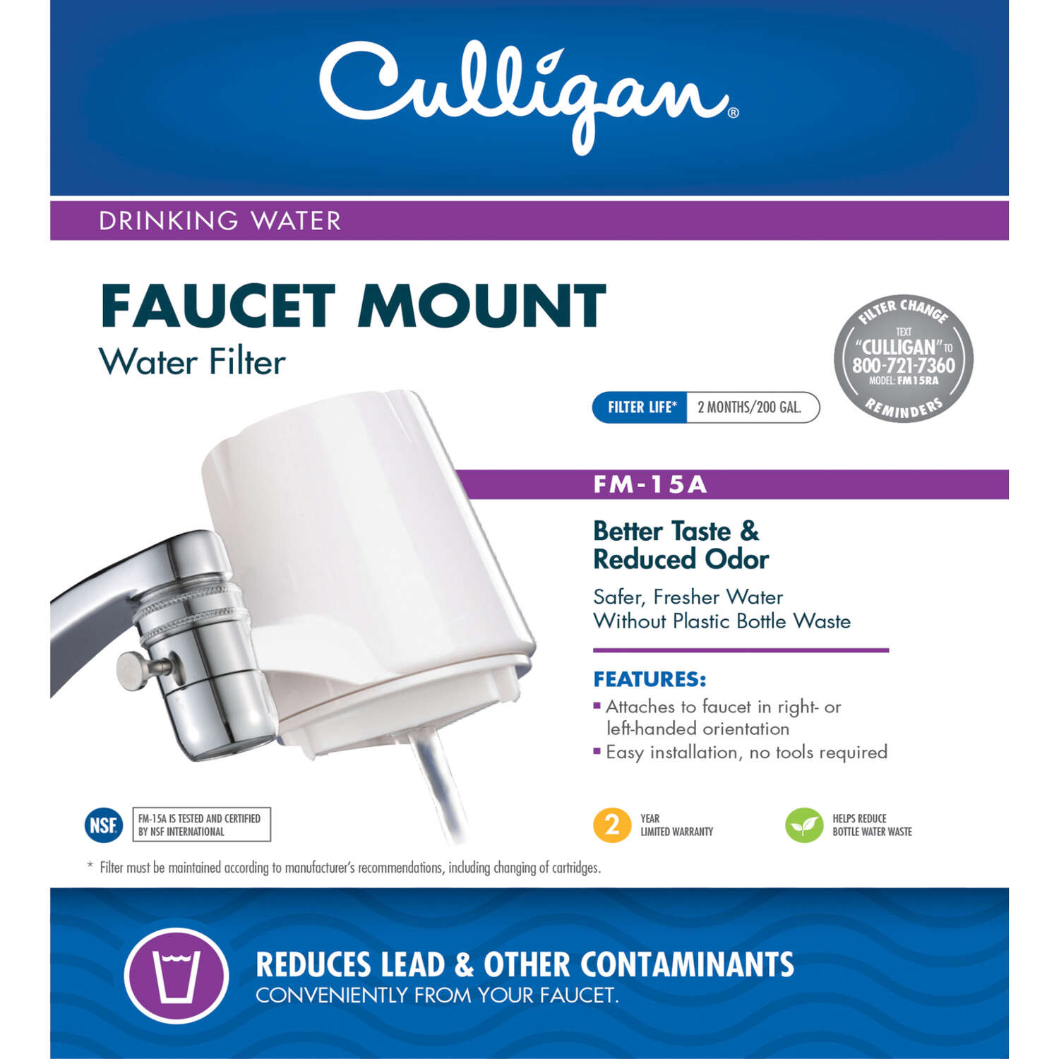 Culligan Faucet Mount Replacement Faucet Filter