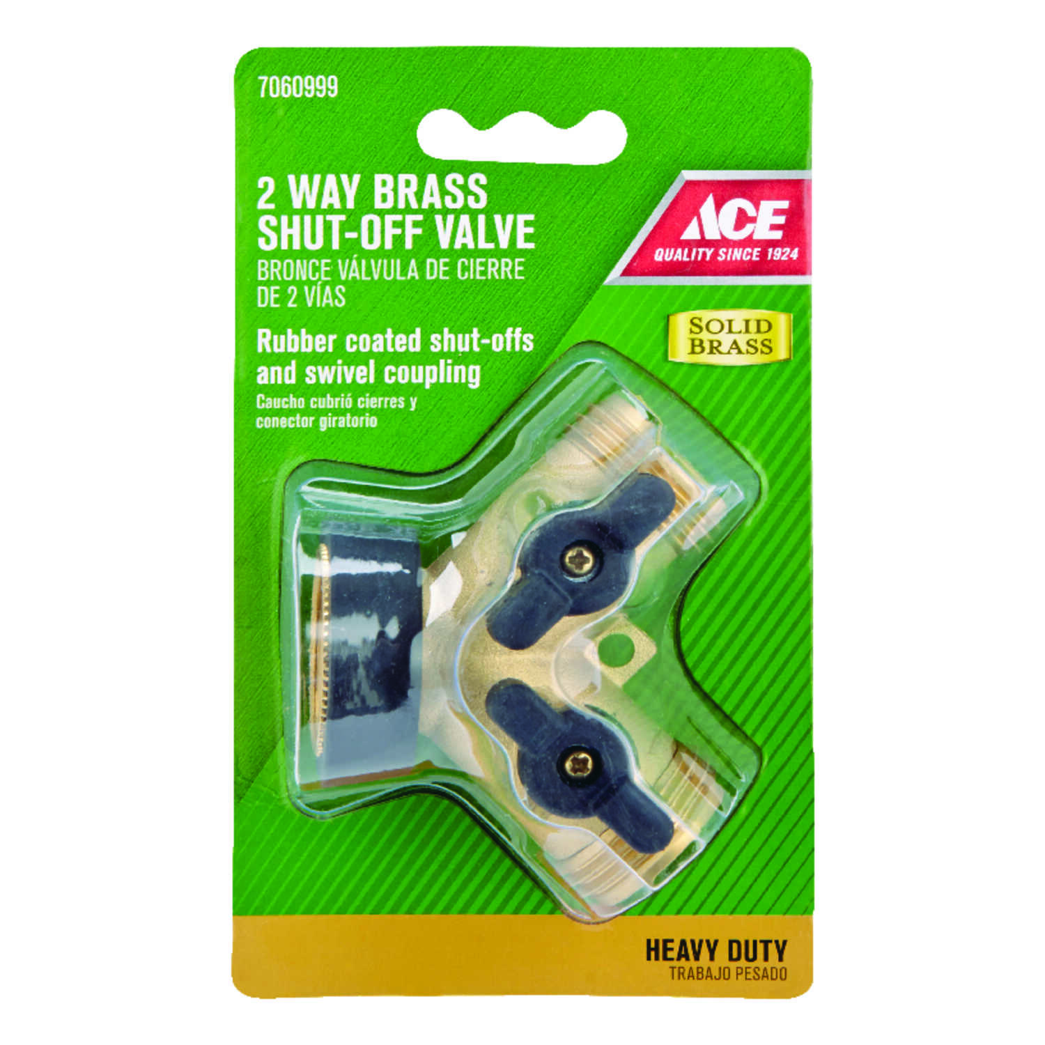 Ace  Brass  Threaded  Male  2-Way Shut-off Valve