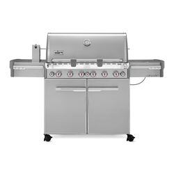 Weber  Summit S-670  Liquid Propane  Grill  Stainless Steel  6 burners