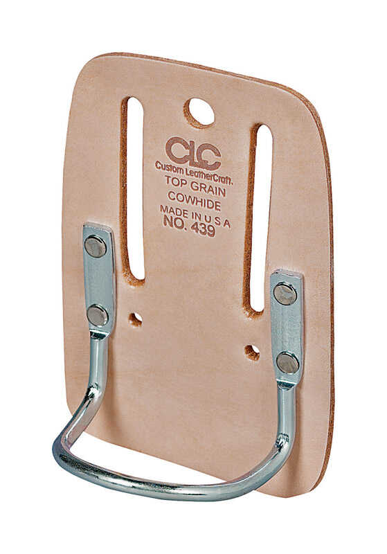 CLC Work Gear  Leather  Hammer Holder  3.9 in. L x 5.8 in. H Tan