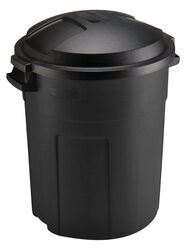 Rubbermaid  Roughneck  20 gal. Plastic  Garbage Can  Lid Included