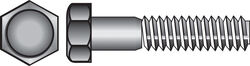 Hillman  5/16 in. Dia. x 1-1/2 in. L Zinc Plated  Steel  Hex Bolt  100 pk