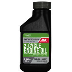 Ace  50:1  2 Cycle Engine  Synthetic  Motor Oil  2.6 oz.