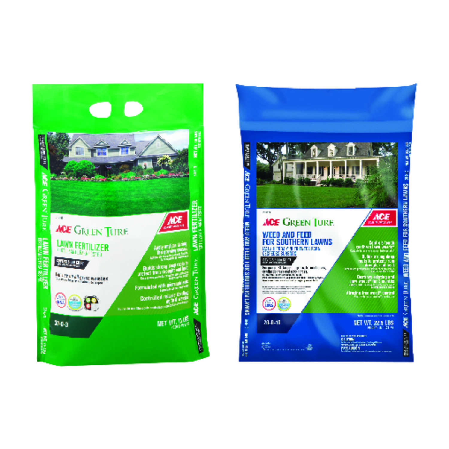 Ace  Green Turf  30-0-3  Lawn Fertilizer  For Southern 15 lb.
