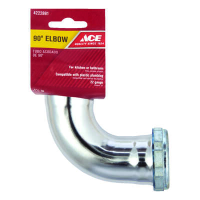 Ace  1-1/2 in. Dia. Brass  90 Degree Elbow