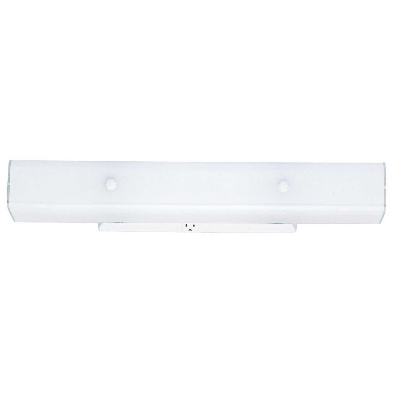 Westinghouse  2  Bathroom Channel Fixture  Wall Mount  White