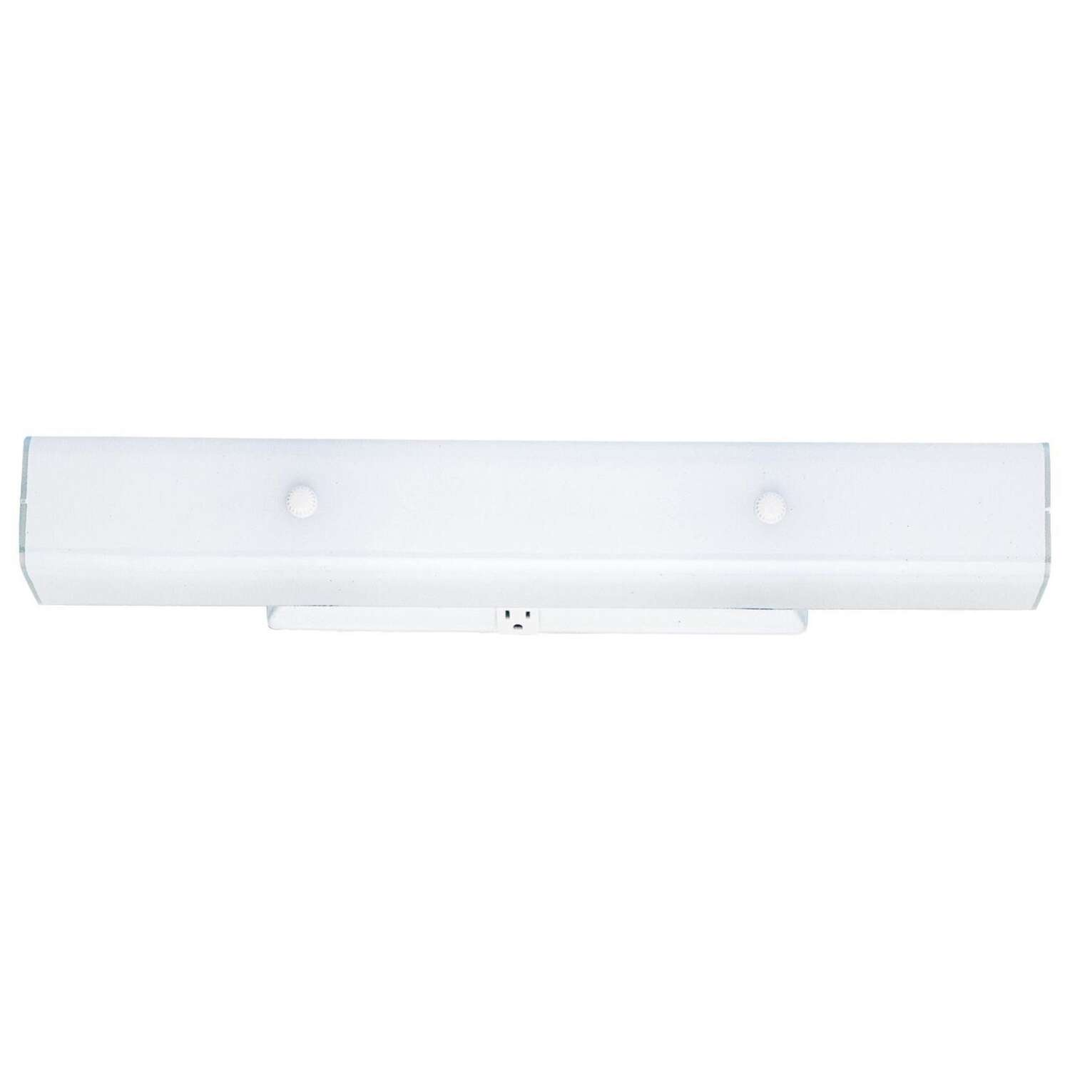 Westinghouse  White  2 lights Incandescent  Bathroom Channel Fixture  Wall Mount