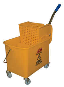 Ace  21 qt. Wringer Bucket  Yellow