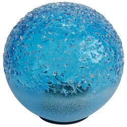 OutDoozie Glass Blue 7 in. H Agate Gazing Ball