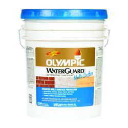Olympic  WaterGuard  Low Luster  Clear  Water-Based  Multi-Surface Waterproofer  5 gal.