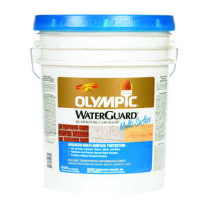 Olympic  WaterGuard  Clear  Water-Based  Low Luster  5 gal. Multi-Surface Waterproofer