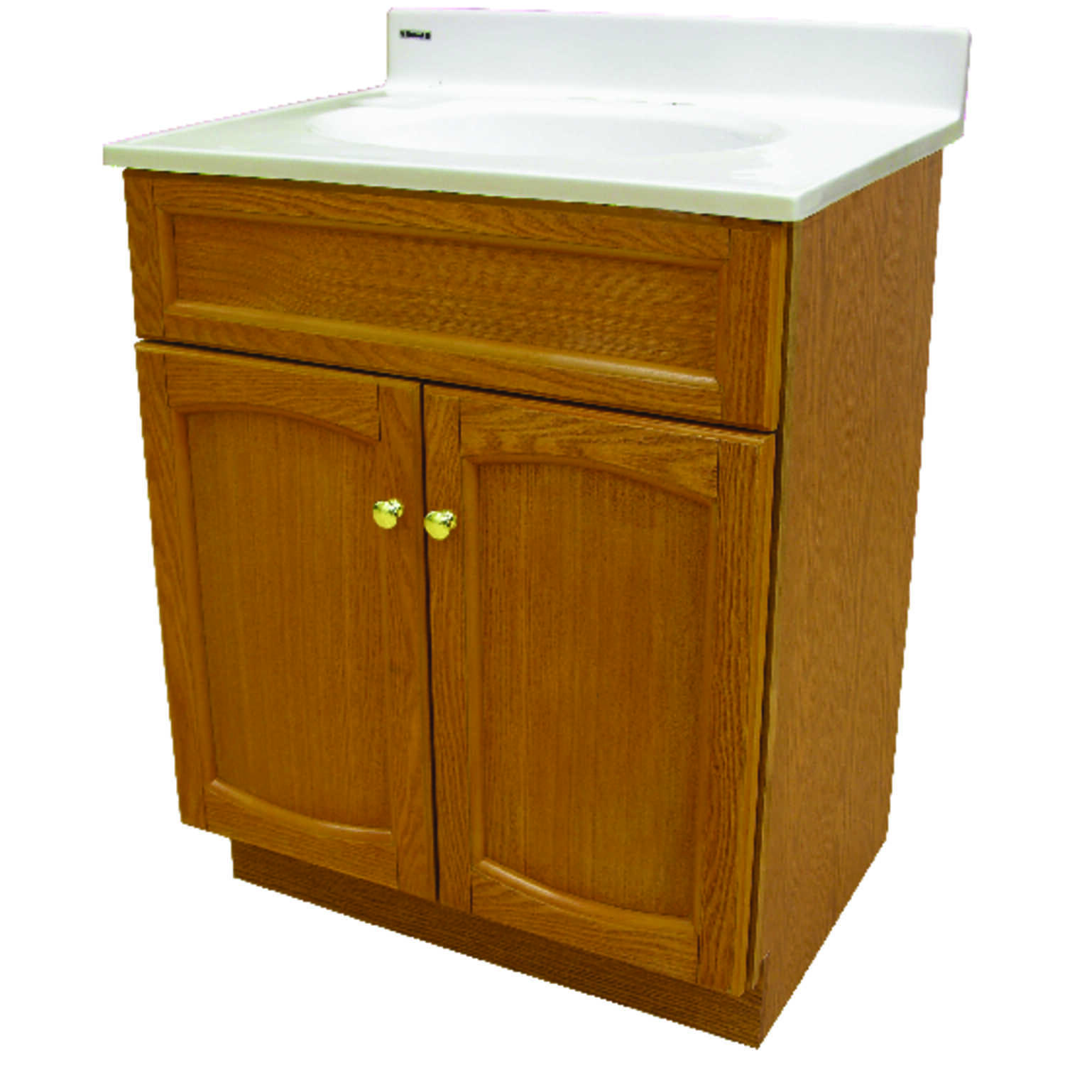 Foremost  Single  Semi-Gloss  Brown  Vanity and Top  34 in. H x 25 in. W x 19 in. D
