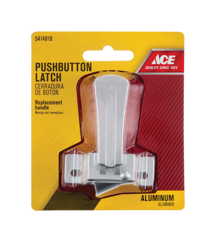 Ace  Aluminum  Steel  Push Button Latch Replacement  1 pk