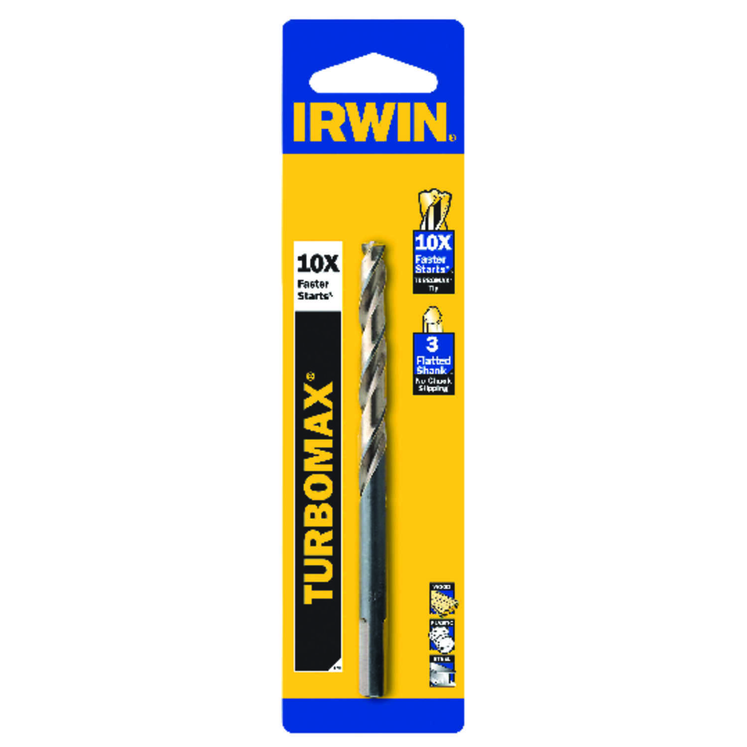 Irwin  Turbomax  15/32 in. Dia. x 5-3/4  L High Speed Steel  Drill Bit Set  3/8 in. Straight Shank