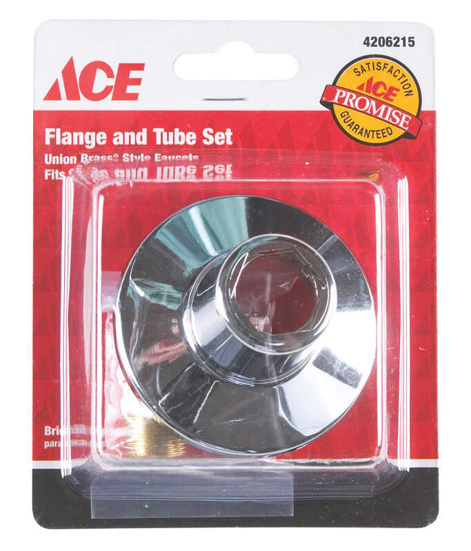 Ace  Metal  Flange and Nipple  1.13 in.