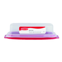 RubberMaid Red Plastic Butter Dish 1 pk
