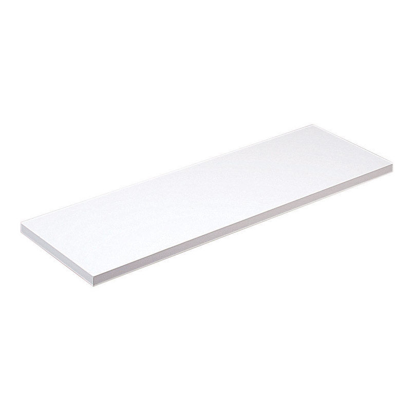 Knape & Vogt  10 in. H x 48 in. D x 10 in. W Melatex Laminate/Particle Board  Shelf  White