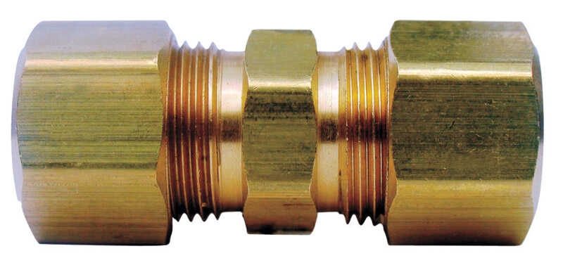 Ace  3/8 in. Dia. x 1/4 in. Dia. Compression To Compression  Yellow Brass  Union