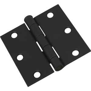 National Hardware  3 in. L Black  Door Hinge  1 pk