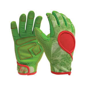 Digz  Signature  Green  Women's  L  Synthetic Leather  Gardening Gloves